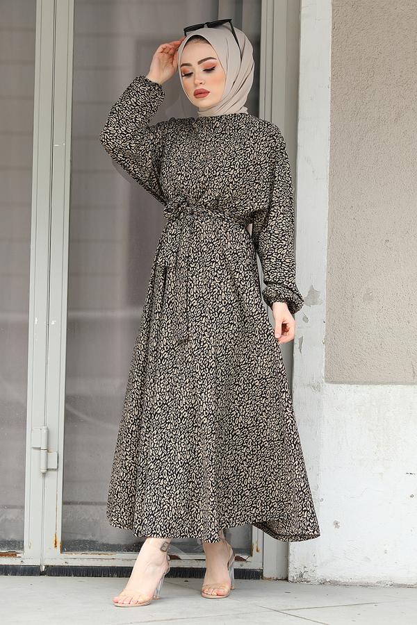yarasa-kol-beli-buzgulu-duz-desen-elbise-17631-11-bej-280094-47-O-jp